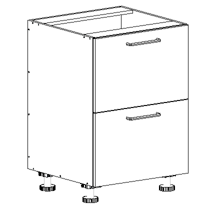 2 drawer kitchen base