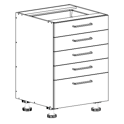 5 drawer base