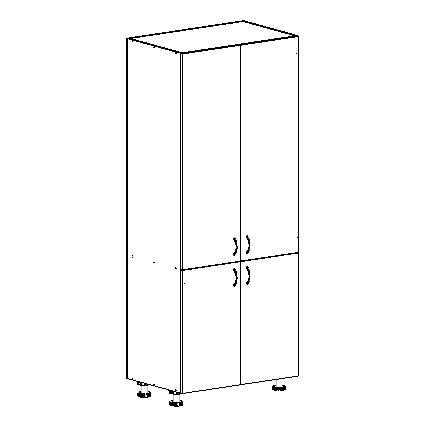 multiple door pantry