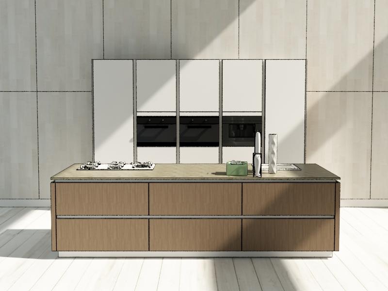 Handleless kitchen Naffy