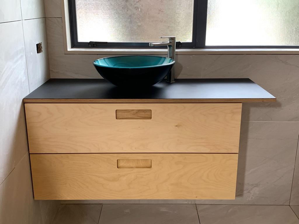 plywood bathroom vanity